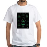 Boo! Spiders Creepy Green White T-Shirt