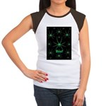 Boo! Spiders Creepy Green Women's Cap Sleeve T-Shi