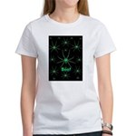Boo! Spiders Creepy Green Women's T-Shirt