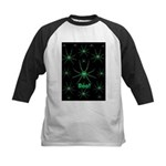 Boo! Spiders Creepy Green Kids Baseball Jersey