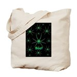 Boo! Spiders Creepy Green Tote Bag