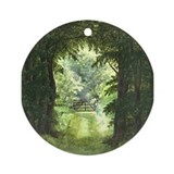 StephanieAM Wood Ray Ornament (Round)