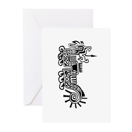 Aztec Dragon Greeting Cards (6)