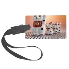 Dolls of cat with a beckoning pa Luggage Tag
