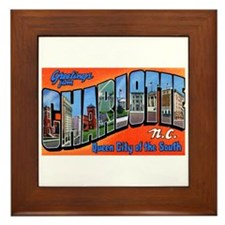 Charlotte North Carolina Greetings Framed Tile
