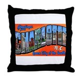 Charlotte North Carolina Greetings Throw Pillow
