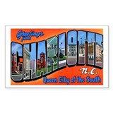 Charlotte North Carolina Greetings Decal