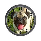 Chinese Pug Wall Clock