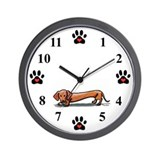 Lil' Red Dachsie Wall Clock