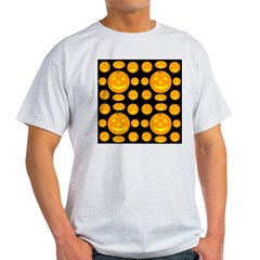 Thirty-six Jack-o-lanterns Ash Grey T-Shirt