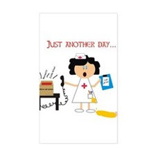 Stressed Out Nurse Rectangle Decal