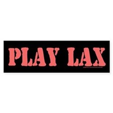 PLAY LAX Bumper Bumper Sticker