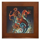 Kokopelli Framed Tile