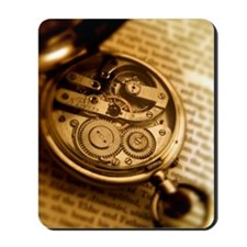 Pocket watch on book Mousepad