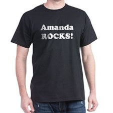 Amanda Rocks! Black T-Shirt