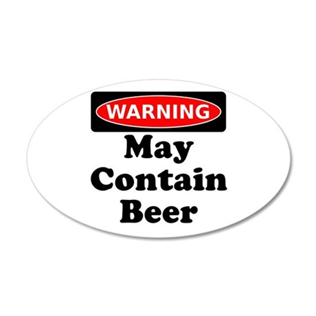 Warning May Contain Beer Wall Decal