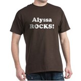 Alyssa Rocks! Black T-Shirt