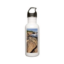 Waves breaking on coas Stainless Steel Water Bottle