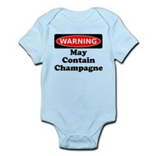 Warning May Contain Champagne Body Suit