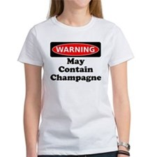 Warning May Contain Champagne T-Shirt