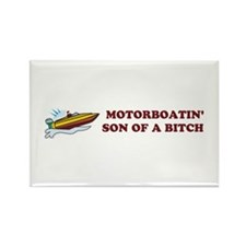 Motorboatin SOB Design 2 Rectangle Magnet