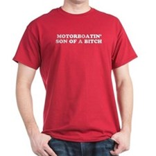 Motorboatin SOB Red T-Shirt