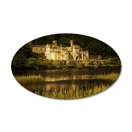KYLEMORE ABBEY, COUNTY GALWA 35x21 Oval Wall Decal