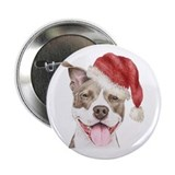 Christmas Pit Bull Terrier Button