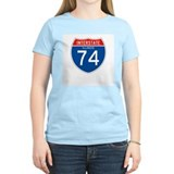 Interstate 74 - IL Women's Pink T-Shirt