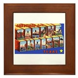 Corpus Christi Texas Greetings Framed Tile