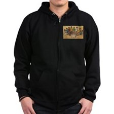 Retro Beach Beauties Zip Hoodie