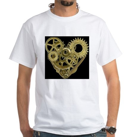 Women's Steampunk Heart T-Shirt (black) T-Shirt