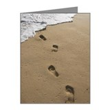 Footprints In The Sand, Maui Note Cards (Pk of 10)