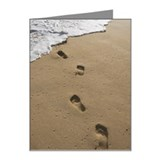 Footprints In The Sand, Maui Note Cards (Pk of 20)