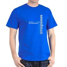 Black Soundman T-shirt (blue)