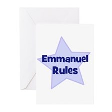 Emmanuel Rules Greeting Cards (Pk of 10)