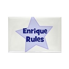 Enrique Rules Rectangle Magnet