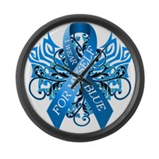 I Wear Blue for Myself Large Wall Clock