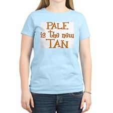 """Pale is the new tan"" Women's Pink T-Shirt"