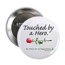 "Touched by a Hero 2.25"" Button (100 pack)"