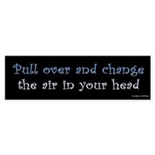 Pull Over Air Head Bumper Car Sticker