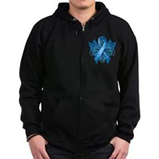 I Wear Blue for my Wife Zip Hoodie