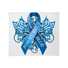 I Wear Blue for my Niece Throw Blanket