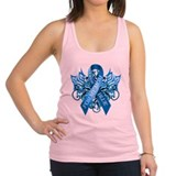 I Wear Blue for my Mom Racerback Tank Top