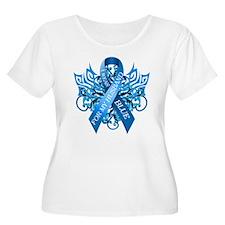 I Wear Blue for my Husband Plus Size T-Shirt