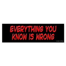 Everything You Know is Wrong Bumper Car Sticker