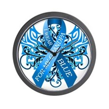 I Wear Blue for my Grandpa Wall Clock