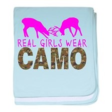 GIRL DEER HUNTER baby blanket