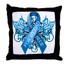 I Wear Blue for my Dad Throw Pillow