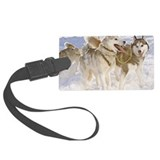 Huskies in winter Luggage Tag